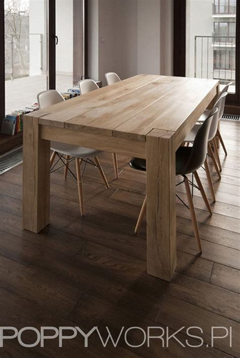 solid oak dining table handmade modern design by