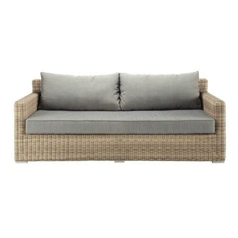 Sofa Sait by 3 Seater Wicker Garden Sofa St Rapha 235 L Maisons Du Monde