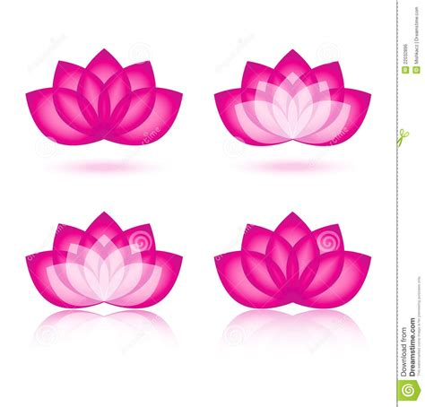 Lotus icon and logo design stock vector. Image of environmental   22032896
