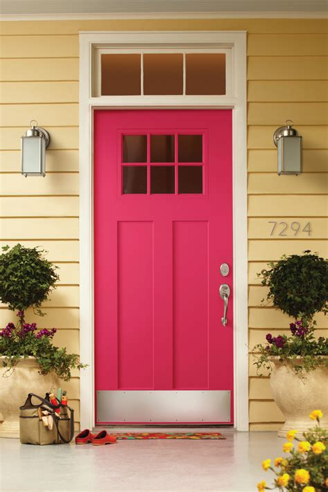 front door colors for yellow house sensational color combos golden yellow house hot pink