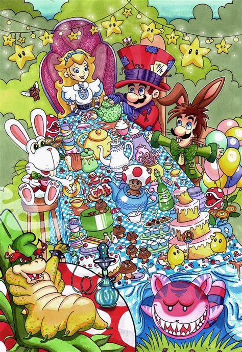 mario s wonderland cartoon cross over mash up
