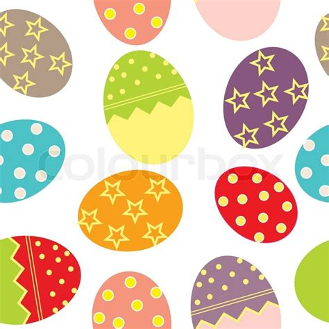 vector easter seamless pattern  eggs background