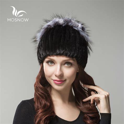 Winter Fur Hats High Quality Rex Rabbit Fur Beanie Whole mosnow brand new 2016 genuine mink fur with rex rabbit flower high quality knitted warm