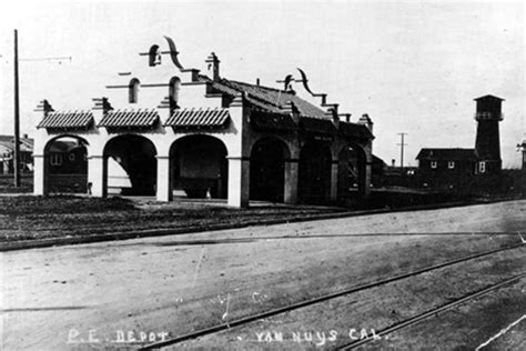 Office Depot Nuys 1914 View Showing The Nuys Pacific Electric Station To