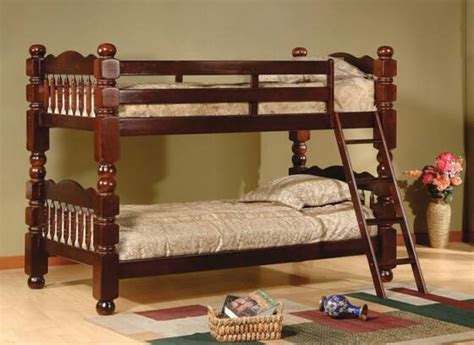 cherry bunk beds cherry wooden twin bunk bed from pfi
