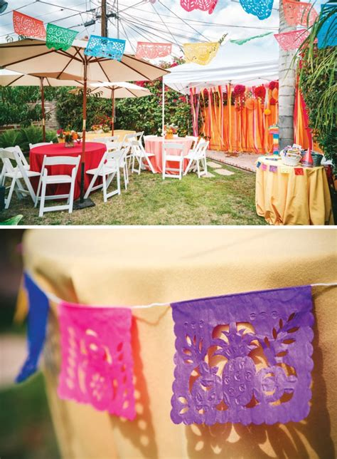 backyard 1st birthday party ideas colorful fiesta travel themed first birthday for twins