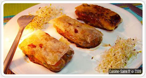 recette cuisine aubergine recette bio nems d aubergines 224 la viande hach 233 e