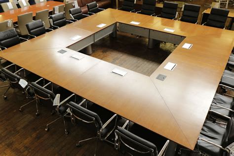 Knoll Propeller Conference Table Knoll Propeller Cherry 14 X 14 Square Conference Table With Teledata Peartree Office Furniture