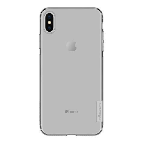 nillkin transparent soft phone for iphone xs max grey