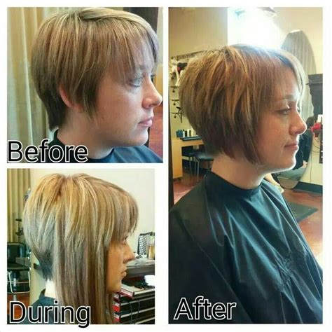 hairstyles to help grow out a bib added extensions to help grow out pixie cut hairs n cuts