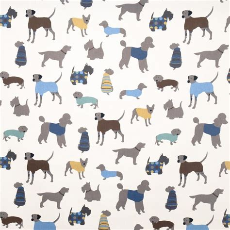 dog pattern fabric uk doggy days fabric eclectic upholstery fabric by