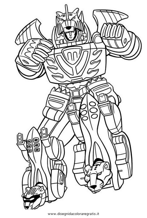 original power rangers megazord coloring pages