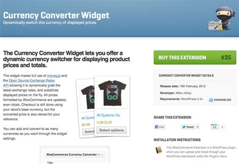 currency converter widget 15 best woocommerce extensions for your ecommerce site
