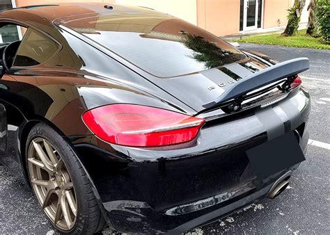 Porsche Cayman Rear Wing by 2013 2016 Porsche Cayman Ducktail Rear Wing Spoiler