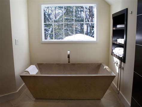 custom made bathtub hand crafted concrete tub by stone soup concrete inc