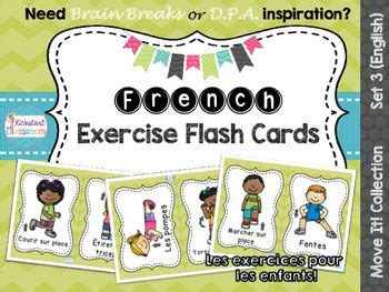 printable exercise flash cards 1032 best images about primary immersion on pinterest