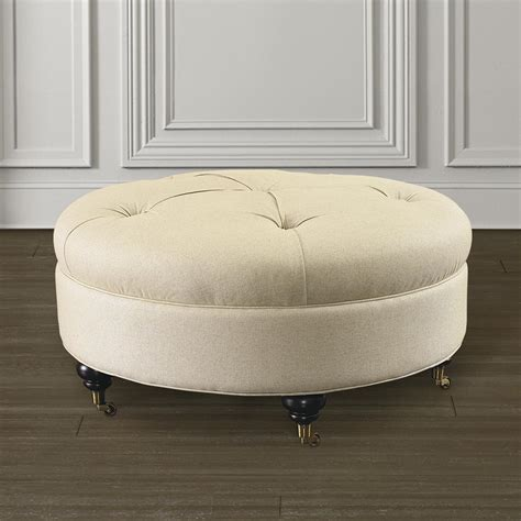 circular ottomans custom round ottoman for home or office