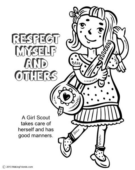girl scout coloring page az coloring pages