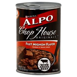 alpo chop house dog food alpo chop house originals filet mignon wet dog food 22 oz can