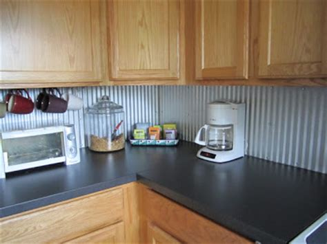 Rob Hannah Budget Kitchen Makeover Corrugated Tin Backsplash