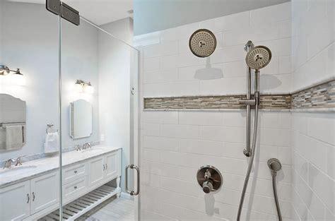 white subway tiles gray border tiles design ideas