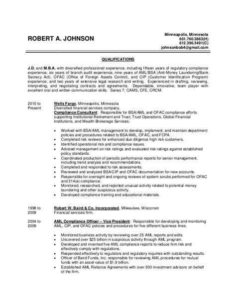 robert johnson resume