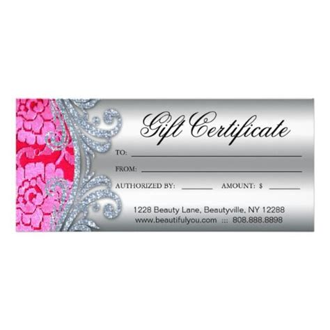 Gift Certificate Floral Lace Nail Hair Salon   Lace, Lace