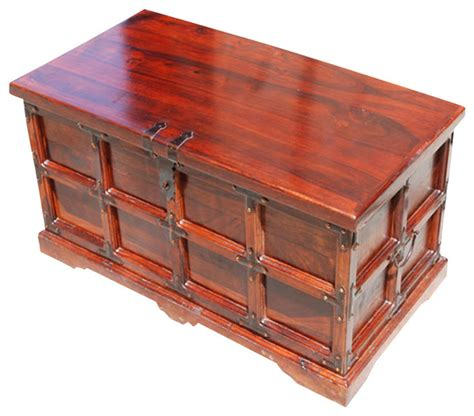 Decorative Storage Trunks And Chests by Claret Wooden Storage Chest And Trunk Traditional