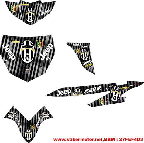 Sticker Striping Motor Stiker Honda Cs1 Juventus Hitam Putih Spec A 2 striping motor vario juventus stikermotor net stikermotor net