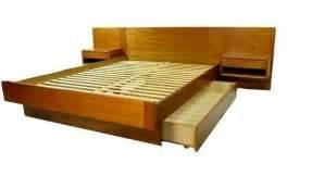 Floating Platform Bed With Drawers Platform Bed Sets Foter