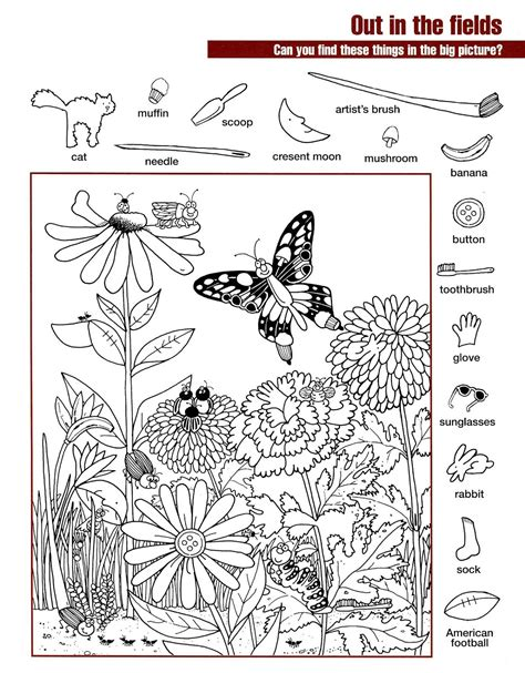 Hidden Pictures Worksheets Activity Shelter Find The Pictures Printables