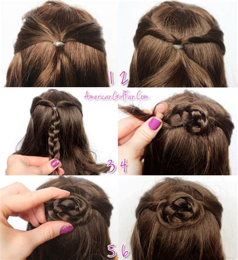 hairstyles for american girl dolls with long hair american girl doll hairstyle half up braided bun dolls