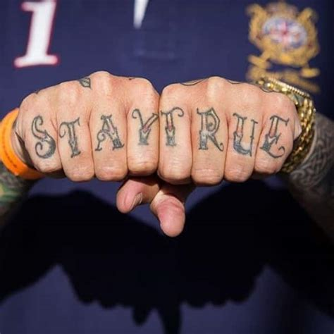 finger tattoo stay true 88 badass knuckle tattoos that look powerful