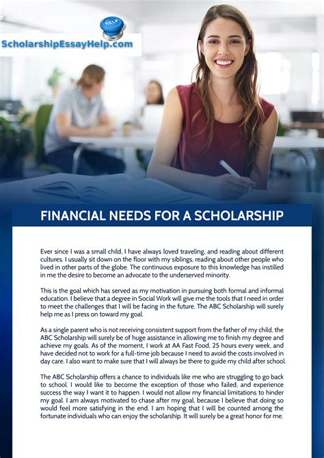 Scholarship Letter Explaining Financial Need 28 sle essay for financial need scholarship