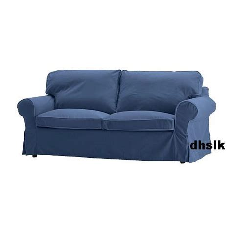 blue slipcover sofa ikea ektorp 2 seat sofa loveseat slipcover cover hillsand blue