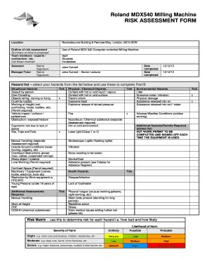machinery risk assessment template adc epa fill printable fillable blank pdffiller