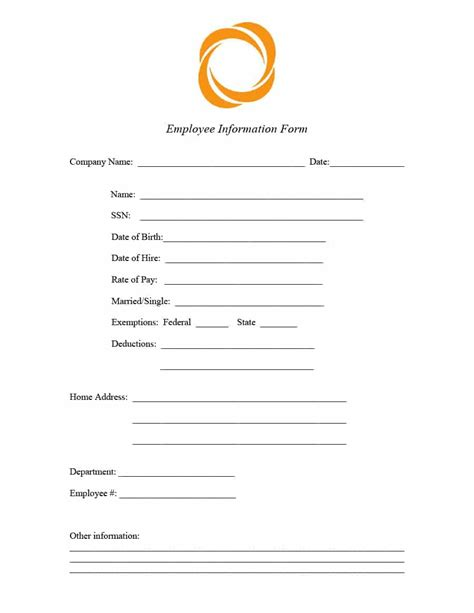 kb form 47 printable employee information forms personnel