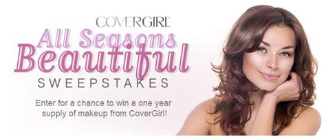 Win Makeup Sweepstakes - covergirl all seasons beautiful sweepstakes win makeup for a year