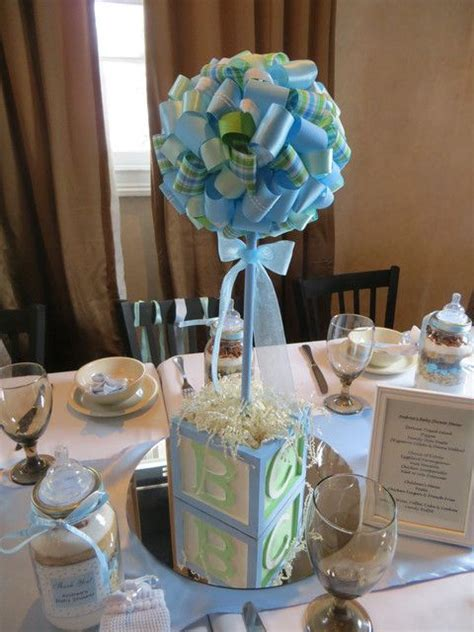 Blue And Green Baby Shower Decorations by Blue And Green Baby Shower Ideas Centerpieces