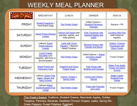 s weekly meal planner a 52 week menu planner with grocery list for planning your meals s cooking series volume 1 books weekly recipe ideas and meal plan for november 4 11 my