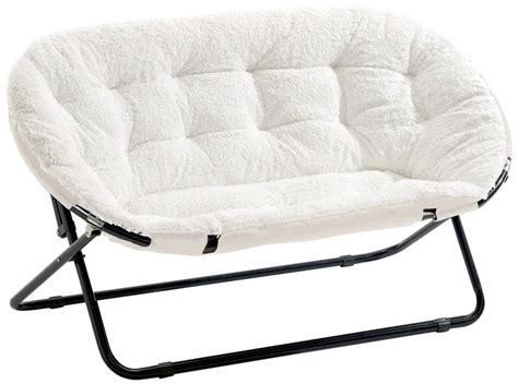 Sherpa Dish Chair by Shop Saucer Chair White Sherpa