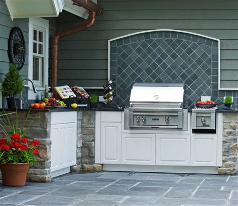 grill backsplash backyard tiles for