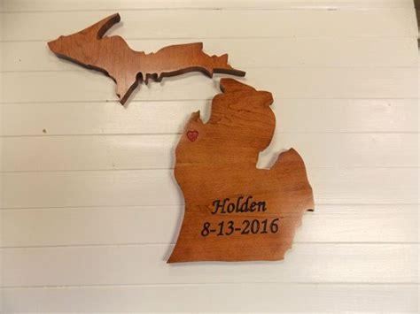 wooden state cutouts michigan wood cutouts wooden state
