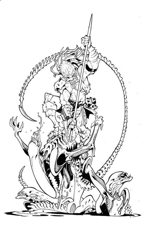 alien vs predator 2 coloring pages