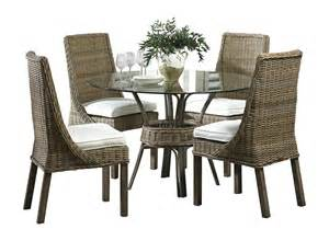 indoor wicker dining room sets panama jack exuma 5 piece indoor wicker dining set