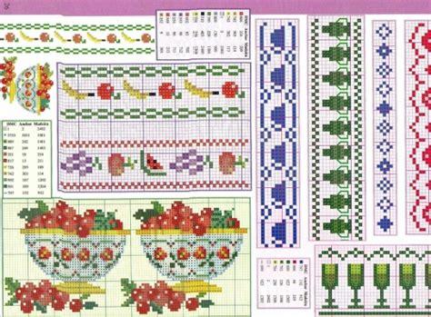 cenefas de uvas en punto de cruz cenefas flores punto cruz para imprimir imagui