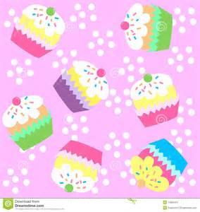 cupcake pattern seamless royalty free stock image image 14853416