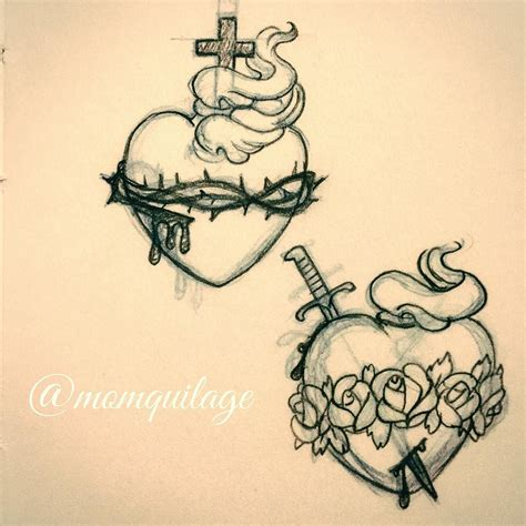 immaculate tattoo school sacred of jesus and immaculate of
