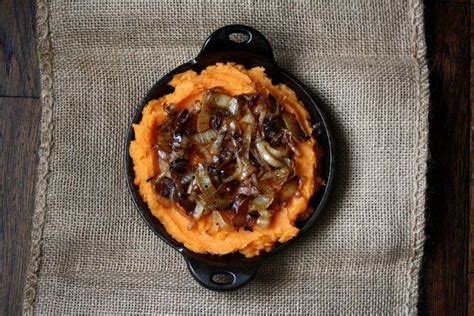 mashed sweet potatoes with caramelized onions recipe