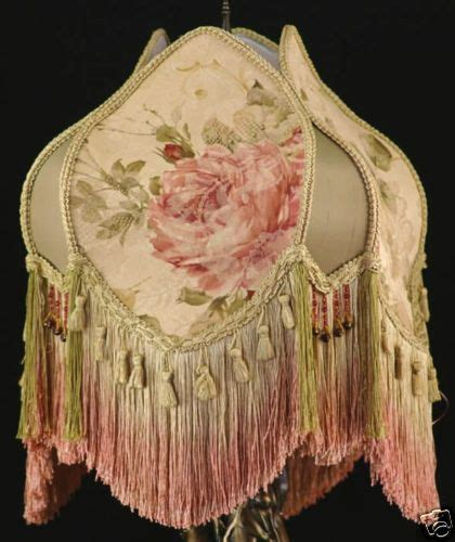 threaded uno downbridge l shade vintage style l shade pink large roses